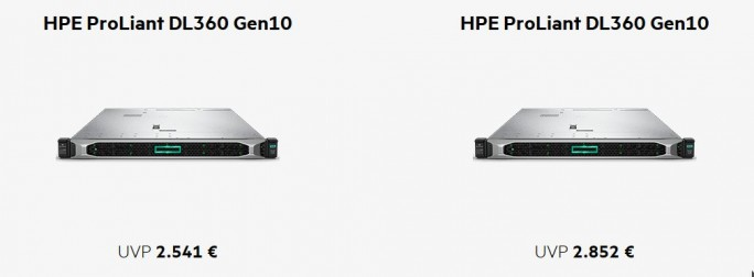 HPE ProLiant DL360 Gen10 und DL380 Gen10 (Screenshot: ZDNet.de)