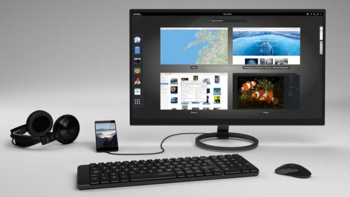 Mit kompatibler Peripherie wird Librem 5 zum Desktop-PC (Bild: Purism).