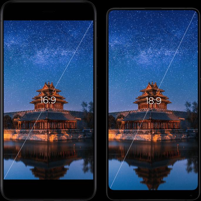 Xiaom Mi MIX 2: Trotz 5,99-Zoll-Display ist das Gerät kleiner als ein iPhone 7 Plus mit 5,5-Zoll-Display (Bild: Xiaomi)