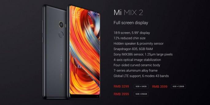 Mi MIX 2: Modelle (Bild: Xiaomi)