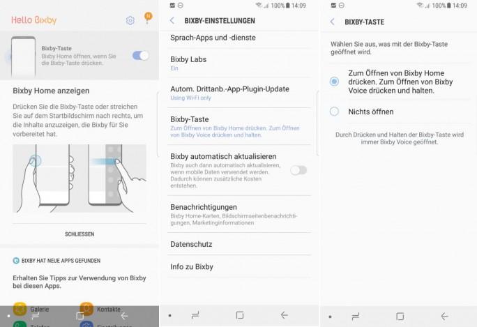 Samsung Bixby Ver 2.0.03.3 erlaubt Deaktivierunge der Bixby-Taste (Screenshot: ZDNet.de)