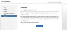 Samsung-Konto: Zwei-Faktor-Authentifizierung aktivieren