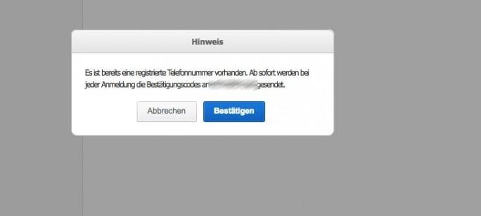 Samsung-Zwei-Faktor-Authentiffizierung (Screenshot: ZDNet.de)