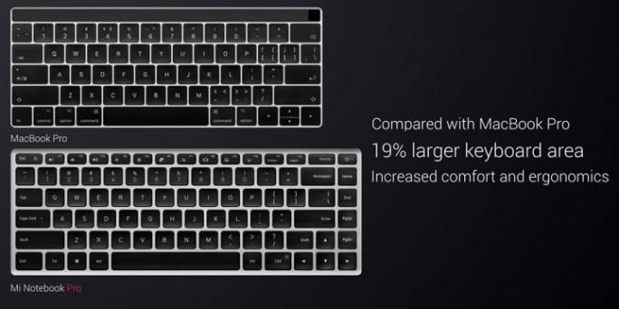 Xiaomi Mi Notebook Pro: Tastatur (Bild: Xiaomi)