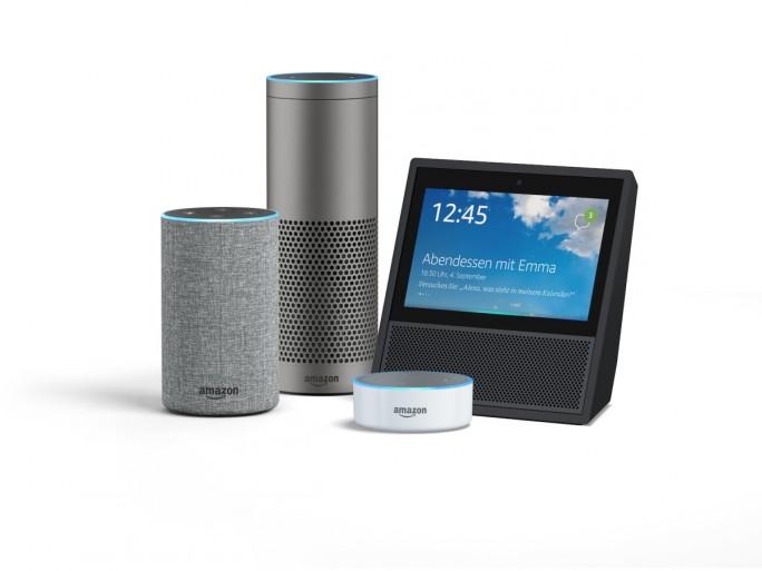 Die Echo-Familie besteht nun aus Amazon Echo, Echo Plus, Echo Dot und Echo Show (Bild: Amazon).