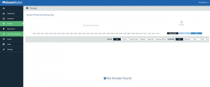 In der Zeitleiste werden gefundene Bedrohungen angezeigt (Screenshot: Thomas Joos).