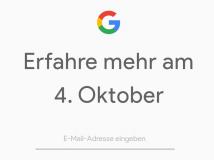 Google: Vorstellung der neuen Pixel-Generation am 4. Oktober