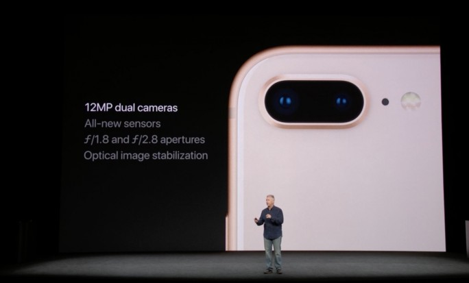 iPhone-8-Kamera: 12 Megapixel, f/1.8, f/2.8 (Screenshot: ZDNet.de)