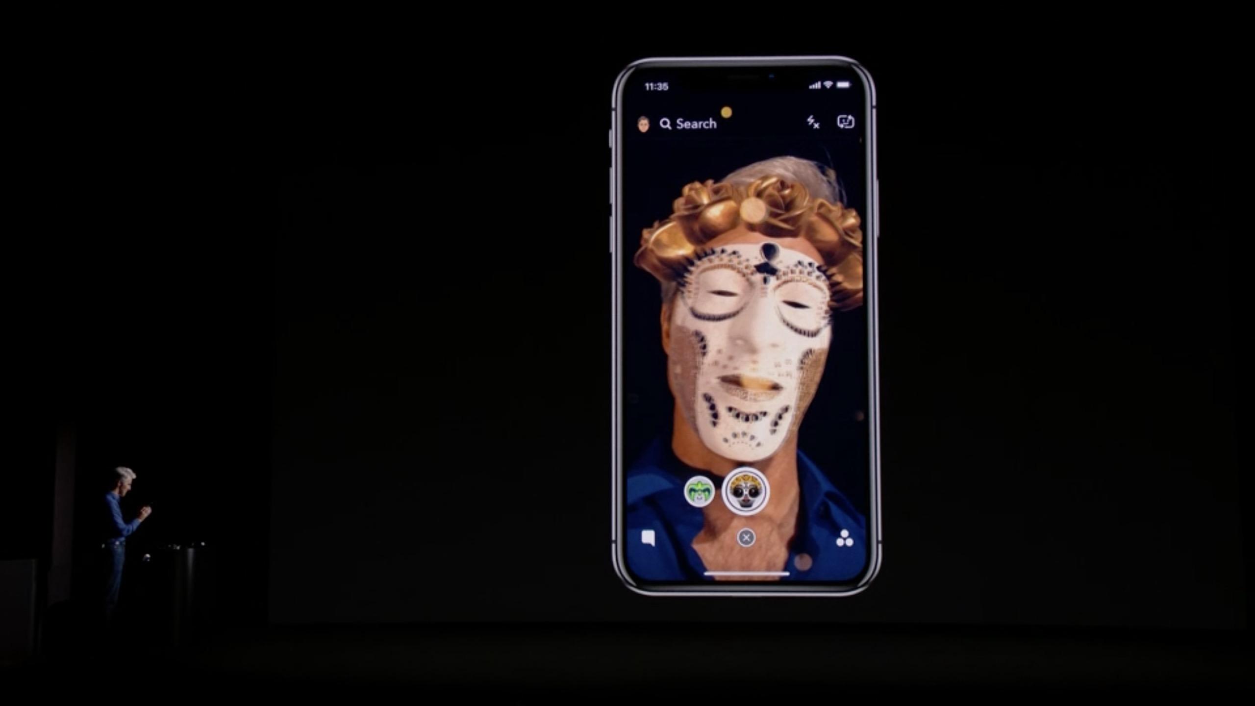 IPhone X Snapchat Maske