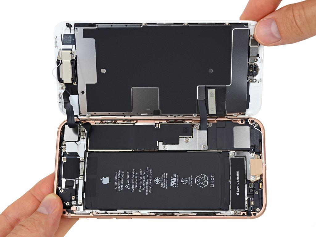 Teardown: Akkukapazität des iPhone 8 liegt unter 1900 mAh