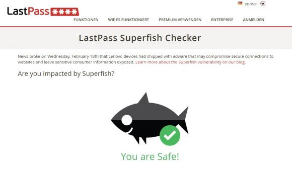 Auf einer Web-Seite von LastPass können Anwender überprüfen, ob sie von der Adware betroffen sind. (Screenshot: CNET.de)