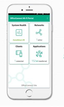 Über die Verwaltungs-App haben die Administratoren und Anwender immer einen genauen Überblick (Screenshot: HPE).