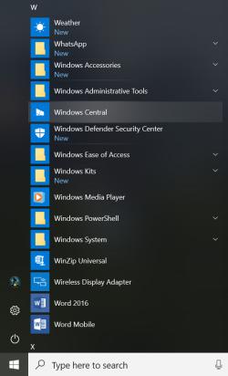 Reveal-Effekt im Startmenü von Windows 10 Redstone 4 (Screenshot: Microsoft)