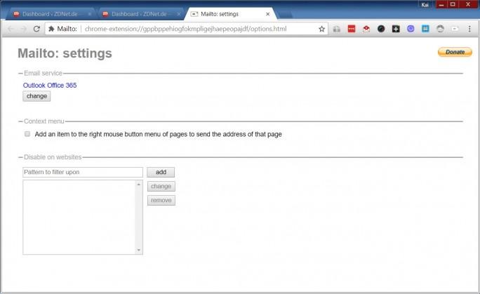 2-Outlook-Office-365-Mailto (Screenshot: ZDNet.de)