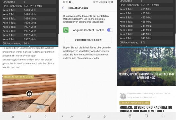 Adguard blockt das Coinhive-Skript (Screenshot: ZDNet.de)