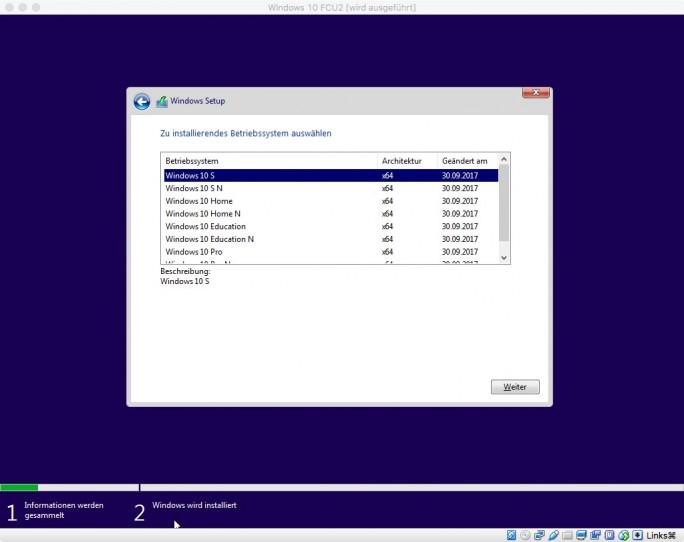 ESD zu ISO: Windows 10 Fall Creators Update (Screenshot: ZDNet.de)
