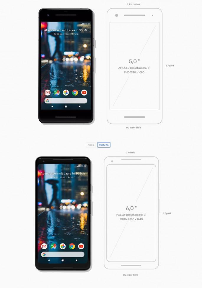 Google Pixel und Google Pixel XL (Screenshot: ZDNet.de)