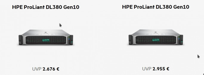 HPE ProLiant DL380 Gen10 im Angebot (Screenshot: ZDNet.de)