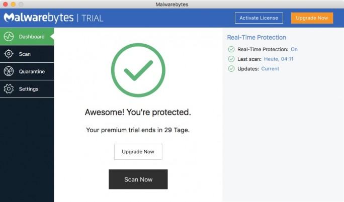 Malwarebytes bietet auch eine Schutzsoftware für macOS X an (Screenshot: ZDnet.de).