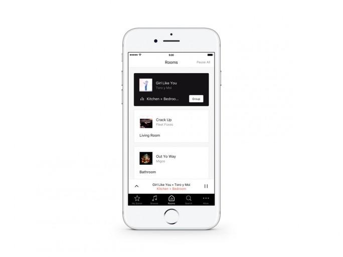 Überarbeitet wurde auch die Sonos-App (Bild: Sonos).