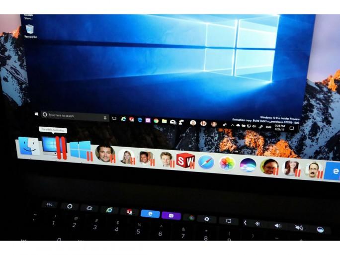 Mit der Windows People Bar-Unterstützung können Nutzer dem Mac-Dock so viele Personen hinzufügen, wie sie möchten, um schnell auf deren Kontaktinformationen, E-Mails und Skype zuzugreifen (Bild: Parallels).