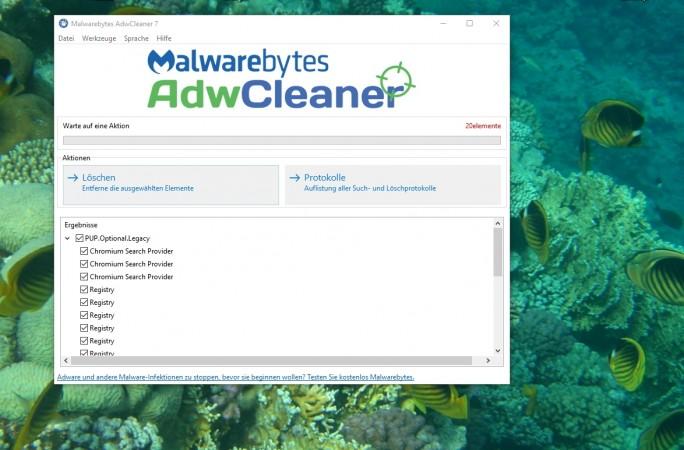 Mit AdwCleaner lassen sich Windows-Rechner recht schnell nach Angreifern durchsuchen (Screenshot: Thomas Joos).