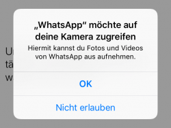 Ios Kamera-Berechtigung (Screenshot: ZDNet.de)
