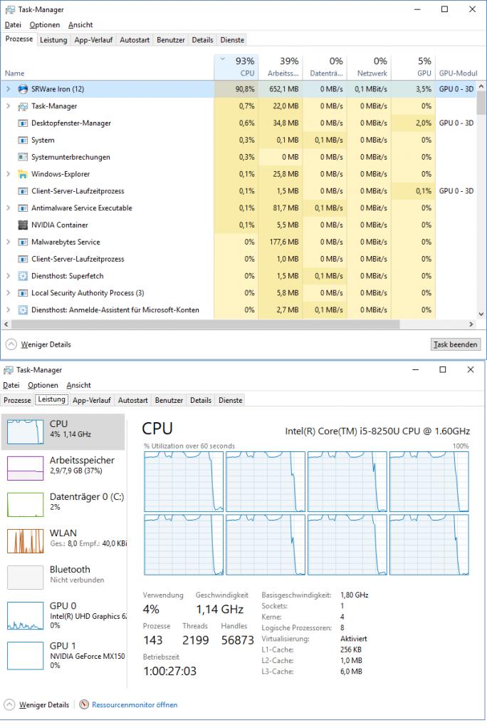 Webseiten kapern Prozessorleistung ihrer Besucher (Screenshot: ZDNet.de)