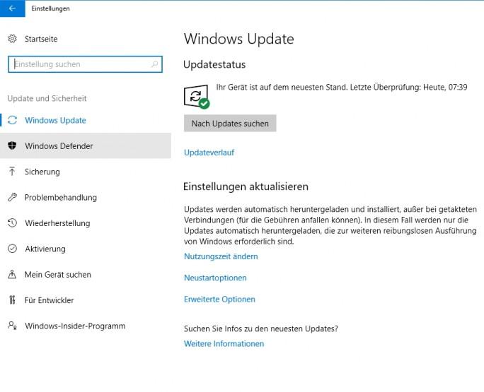 Stellen Sie sicher, dass alle Updates auf Ihrem Betriebssystem installiert sind (Screenshot: Thomas Joos)..