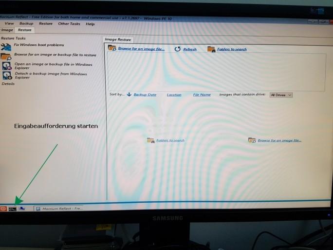 Macrium: Start von Windows PE (Bild: ZDNet.de)