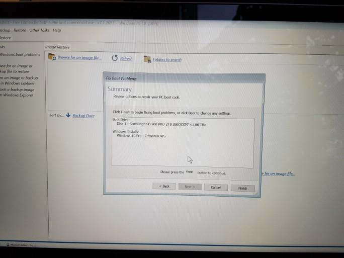 Macrium-Fix-Boot-Problems (Bild: ZDNet.de)