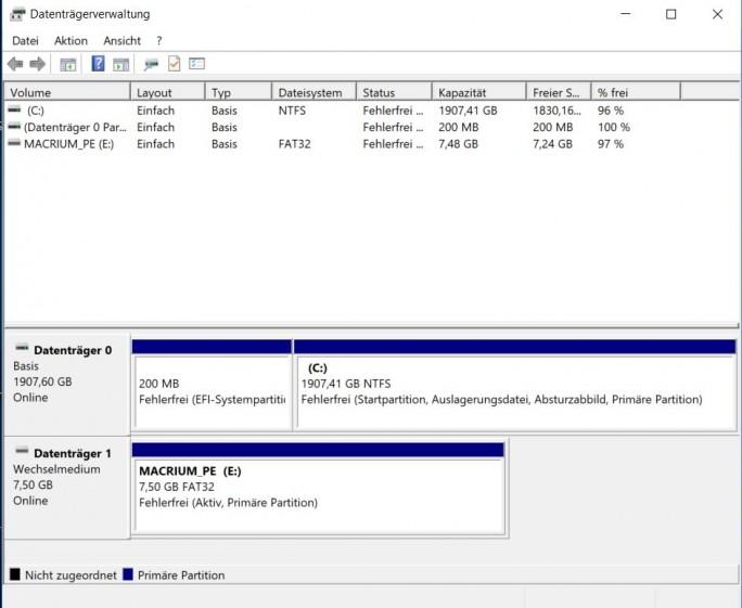 Macrium: Success (Screenshot: ZDNet.de)