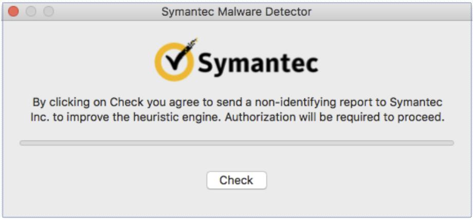 Die Malware gibt sich als Symantec-Tool aus (Bild: Malwarebytes).