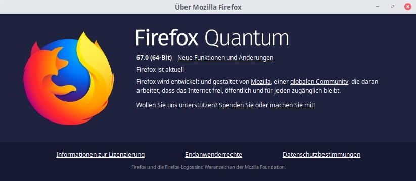 Firefox 67 unter Linux Mint installieren