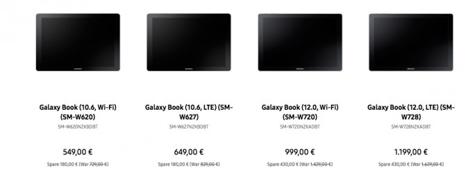 Galaxy Book ab 549 Euro (Screenshot: ZDNet.de)