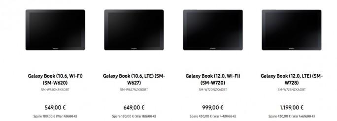 Galaxy Book ab 549 Euro (Screenshot: ZDNet.de)