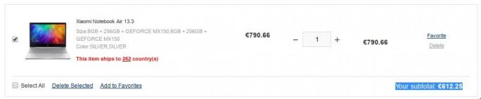Xiaomi Mi Notebook Air 13 (Screenshot: ZDNet.de)