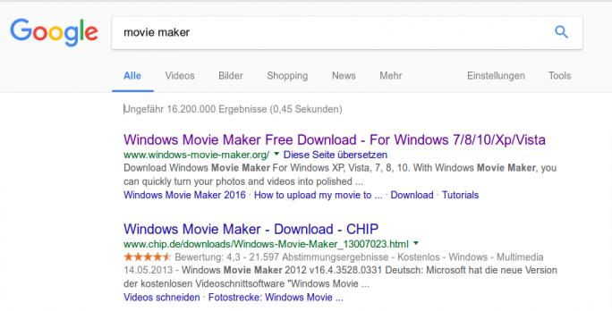 Mit Suchmaschinenoptimierung schaffen es die Scammer ganz nach oben (Screenshot: ZDNet.de)