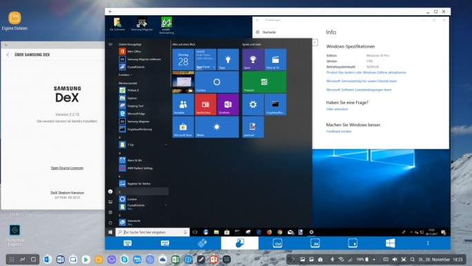 Samsung DeX: Mit Remote Desktop Zugriff auf Windows 10 (Screenshot: ZDNet.de)