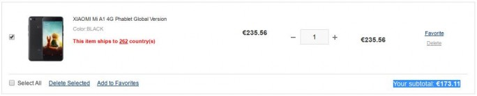 Xiaomi Mi A1 für 173 Euro (Screenshot: ZDNet.de)
