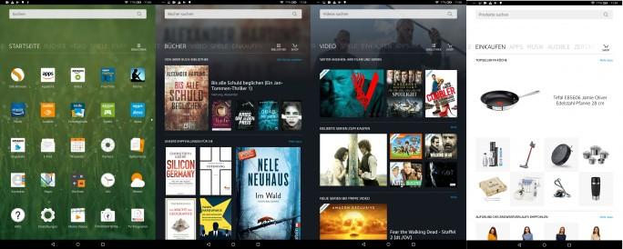 Fire-OS-Oberfläche: Kaufen, kaufen, kaufen - lautet die Devise (Screenshot: ZDNet.de).