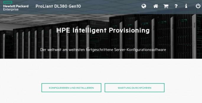 Mit Intelligent Provisioning aus iLO 5 können Server automatisiert bereitgestellt werden (Screenshot: Thomas Joos).