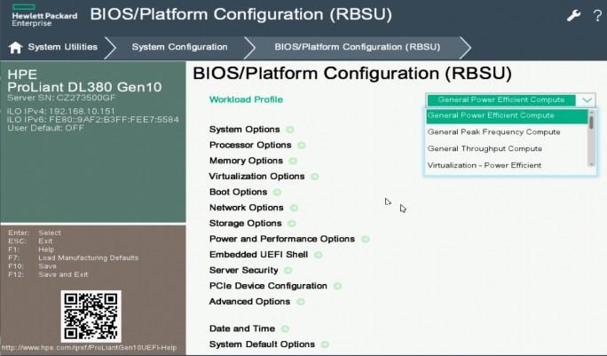 Mit Intelligent System Tuning lassen sich Gen10-ProLiant-Server an Serverworkloads im Unternehmen anpassen (Screenshot: Thomas Joos).