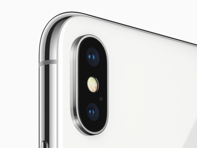 Dual-Kamera mit LED-Blitz des iPhone X (Bild: Apple)