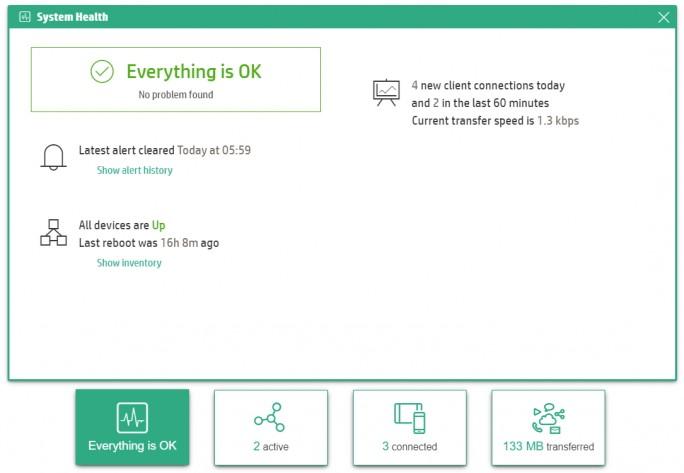 HPE OfficeConnect OC20 Access Points zeigen ihren Status zentral und leicht verständlich im Webportal und den Smartphone-Apps an (Screenshot: Thomas Joos).