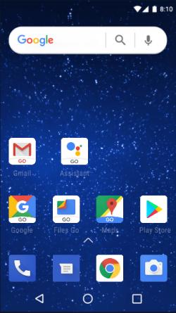 Android Go mit verschlankten Apps (Bild: Google)