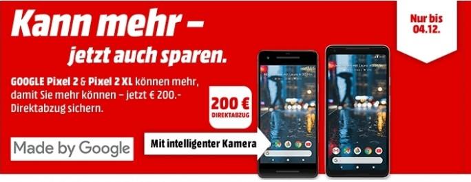 Media Markt: Google Pixel 2 und Pixel 2 XL 200 Euro günstiger (Screenshot: ZDNet.de)