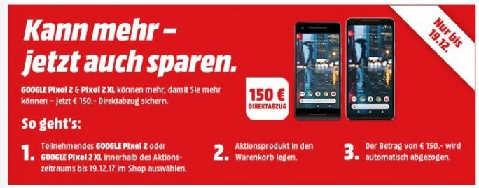 MediaMarkt und Saturn: Pixel-Smartphones 150Euro günstiger (Screenshot: ZDNet.de)