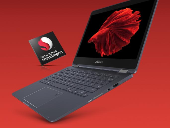 Asus statt das 2-in-1-Notebook NovaGo mit einem Snapdragon 835 von Qualcomm aus (Bild: Asus).