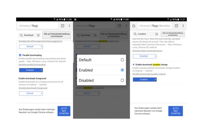 """Unter """"chrome://flags"""" können Nutzer einer Vorabversion von Chrome schon jetzt parallele Downloads und die Auswahl des Download-Ordners aktivieren (Screenshot: ZDNet.de)."""